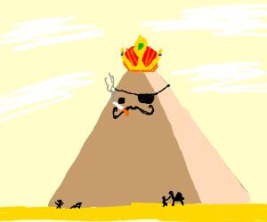 Royal smoking French pirate pyramid