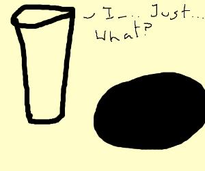 Round peg contemplates round hole.
