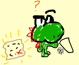 Yoshi lost his map.
