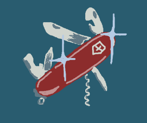 A shiny new Swiss Army knife