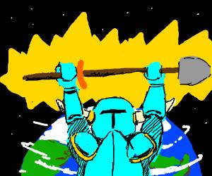 Sir Shovel, defender of Earth
