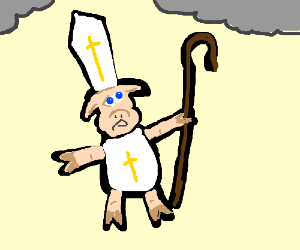 Swinpope looks towards the heavens