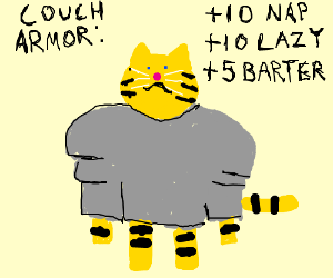 cat dons the coucharmor