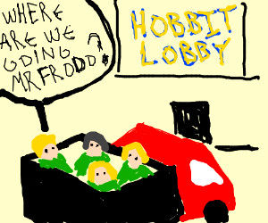 Where are they taking the hobbits?