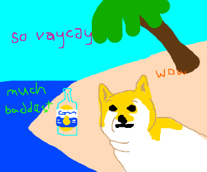 Soupr Doge takes a vacation, much baddest
