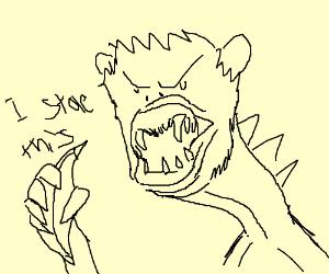 Banana-Stealing Monkey-Dragon