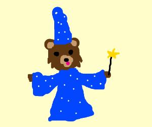 Pedobear becomes a wizard.