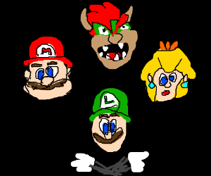 Bohemian Rhapsody performed by the Mario cast