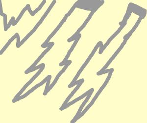 Lightning with french tank emblem