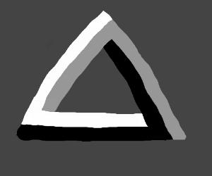 optical illusion, the triangle one