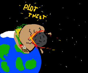 flying taco will save the planet from meteor