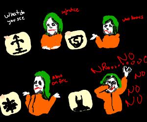 The Joker fears Batman Alot.