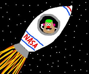 Nasa sends Mr. Potato Head to space
