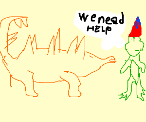 Stegosaur and birthday frog need your help!