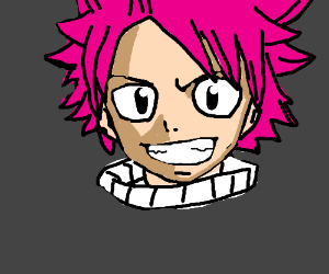 Pink haired Japanese comics dude. :D