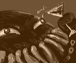 Octopus has a martini