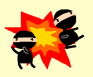 Explosion ninjas