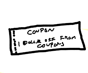 Coupon for 1 dollar off when buying coupons