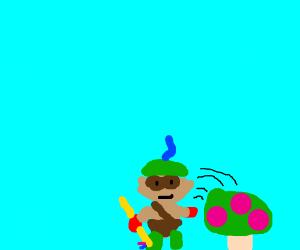 Teemo putting down his mushrooms
