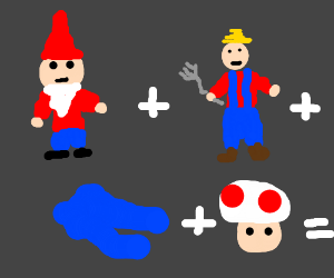 gnome farmer pants mushroom
