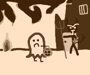 trick-or-treating in hell