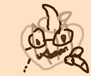 Spooky pumkinhead creepy