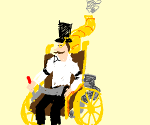 Steampunk Wheelchair almost over heating