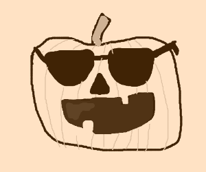 a pumpkin with glasses