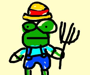 Farmer gnome frog