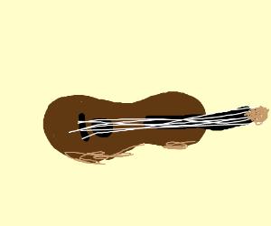 Guitar on side