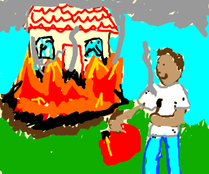 Arsonist likes the work he just did