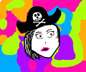 pirate girl on psychedelic drugs