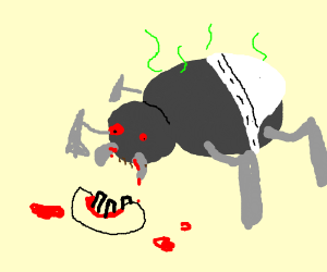 a disgusting insect