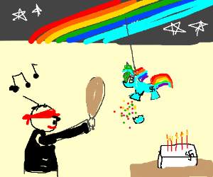 Hitler's My Little Pony themed birthday party