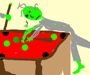 Zombies playing billiards, green balls only.