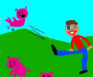 one-eyed pig kicker