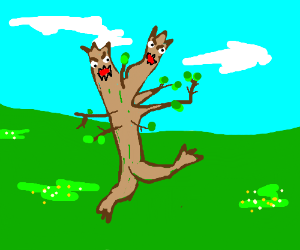 Branch monster with 2 heads