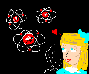 Atomic faeries are loved by Alice with wings