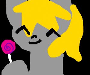 Kid with lollipop derping & Dancing
