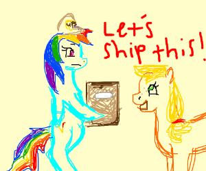 Rainbow Dash and Applejack shipping
