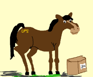 ups horses want to ship a package