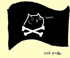 Doge pirate flag
