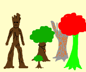 Guardians of the Galaxy have turned into trees