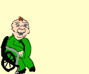 Wheelchair for a Captain Planet villain