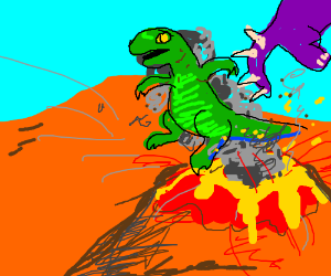 THESE DINOS ARE GETTING PRETTY STEAMED!