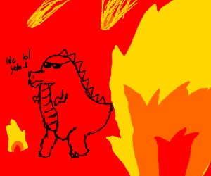 Cool dinosaurs don't look at explosions