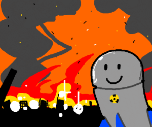 Super Nuke watches the world burn