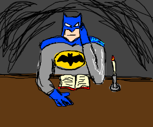 Batman in the study with the candlestick