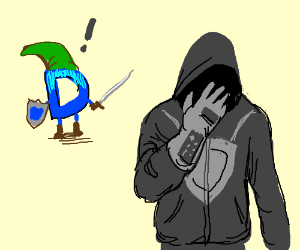 Link Drawception D Finds the Triforce