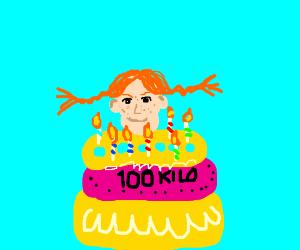 Pippi Longstocking's awesome birthday cake
